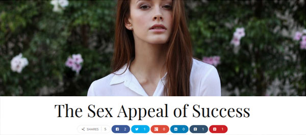 Guest Blog on the Sex Appeal of Success