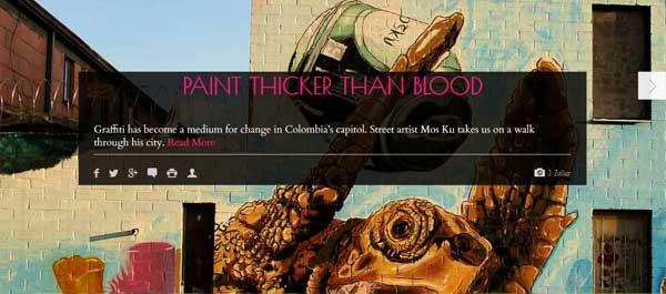 Article on Graffiti in Bogotá