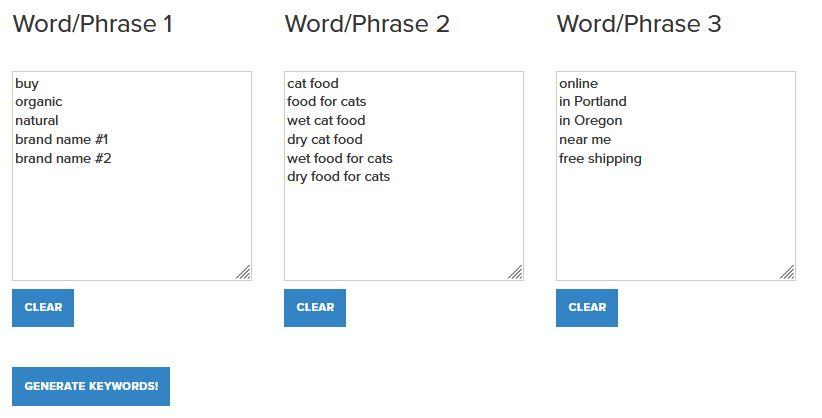 Make a Keyword List